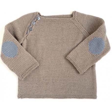 CITRONILLE knitting pattern N°45, Raglan pullover.