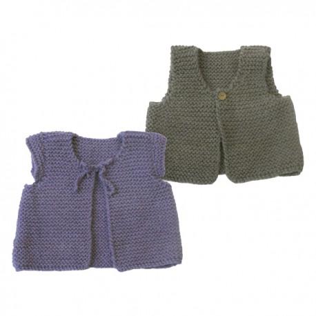 CITRONILLE knitting pattern N°47, Vest of shepherd.
