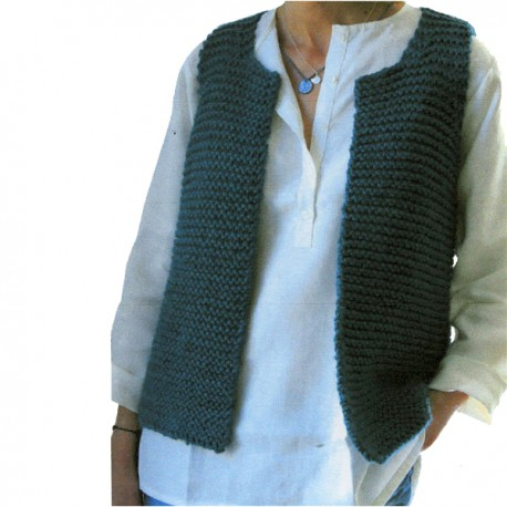 CITRONILLE knitting pattern N°47 bis, The Mum's vest of shepherd.