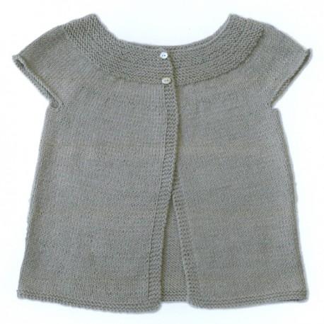 CITRONILLE knitting pattern N°48, Sleeveless cardigan.