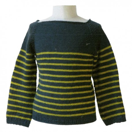 CITRONILLE knitting pattern N°53, The striped sweater.