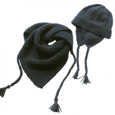 Modèle Tricot Citronille N°54, Le châle et le bonnet péruvien.