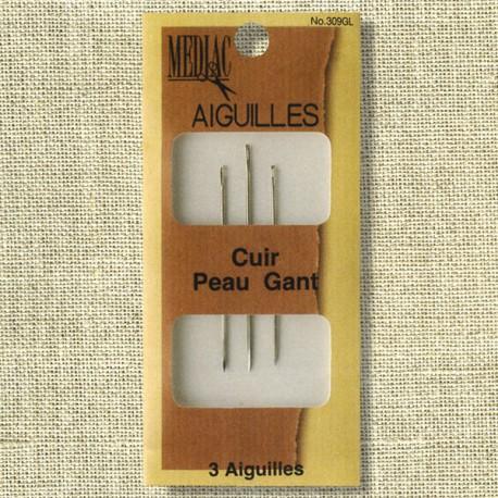 Mercerie Aiguilles pour Cuir, Gant, assortiment