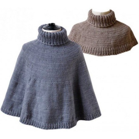 CITRONILLE knitting pattern N°55, The cape and the capelet.
