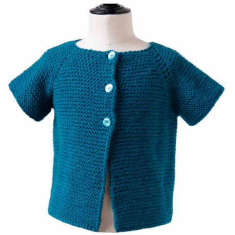 CITRONILLE knitting pattern N°56, Short-sleeved cardigan.
