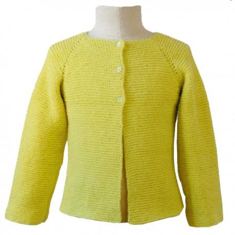 Modèle Tricot Citronille N°57, Cardigan raglan au point mousse.