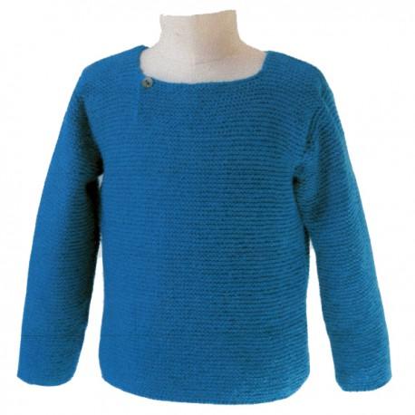 CITRONILLE knitting pattern N°58, Tunic in garter stitch.