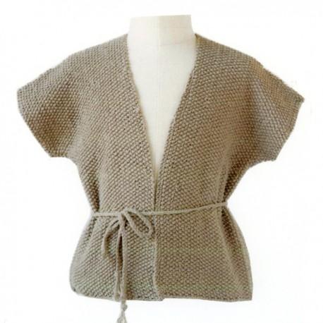 CITRONILLE knitting pattern N°59, Edge to edge cardigan