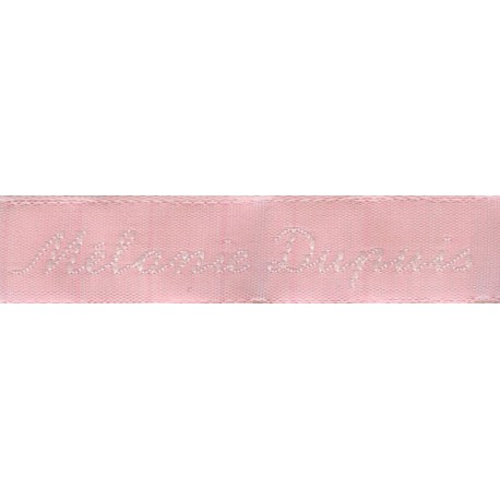 Woven labels, Model Y - Pink 12mm ribbon - White lettering