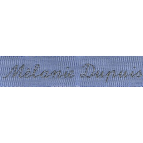 Woven labels, Model Y - Blue 12mm ribbon - Grey lettering