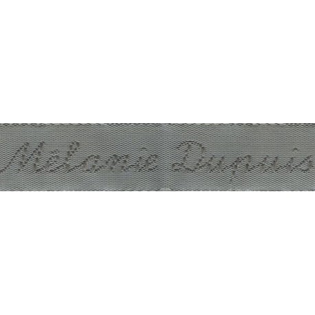 Woven labels, Model Y - Grey 12mm ribbon - Grey lettering
