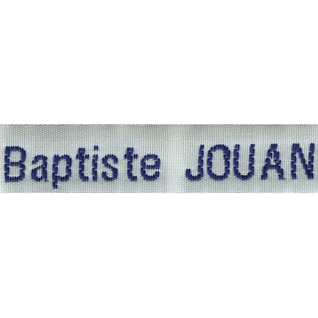 Woven labels, Model Z - White 12mm ribbon - Navy lettering