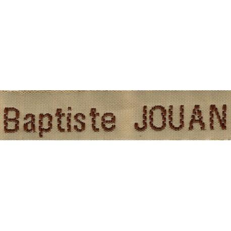 Woven labels, Model Z - Beige 12mm ribbon - Brown lettering