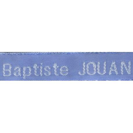 Woven labels, Model Z - Blue 12mm ribbon - White lettering