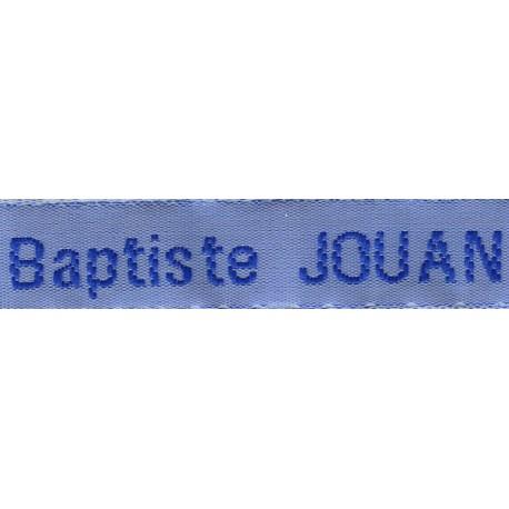 Woven labels, Model Z - Blue 12mm ribbon - Royal blue lettering