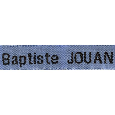 Woven labels, Model Z - Blue 12mm ribbon - Black lettering