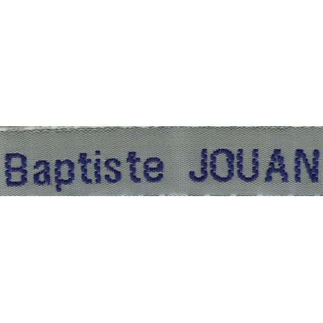 Woven labels, Model Z - Grey 12mm ribbon - Navy lettering