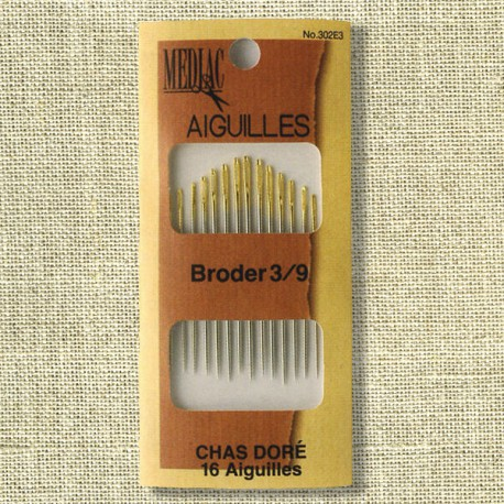 Assorted embroidery needles