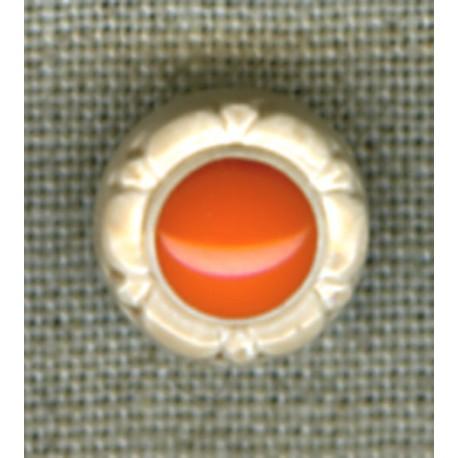Sand/Coral flower children's button.
