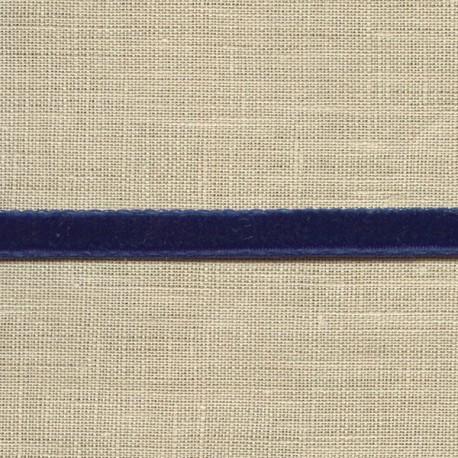 Ruban Mini velours 5mm, col. Bleu nuit 23