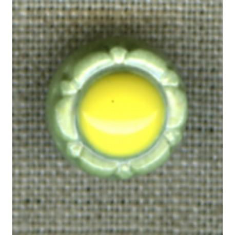 Lagoon/Navy flower children's button.