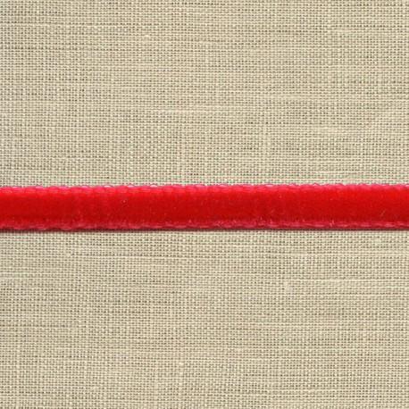 Mini velvet ribbon 5mm, col. Cherry 08