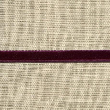Mini velvet ribbon 5mm, col. Eggplant 89