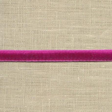 Mini velvet ribbon 5mm, col. Fushia 73