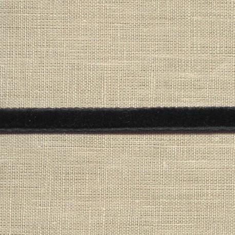 Mini velvet ribbon 5mm, col. Black 46