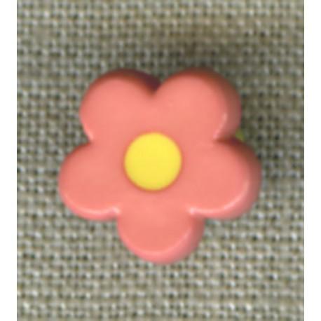 Pop Pale pink/Yellow flower children's button.