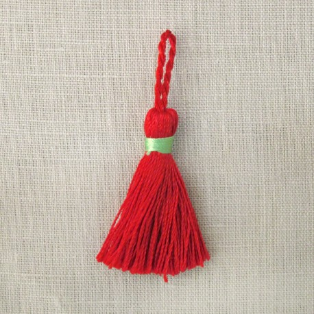 Mini tassel, col. Vermillion/Granny