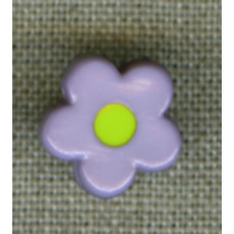 Pop Violet/Aniseed flower children's button.