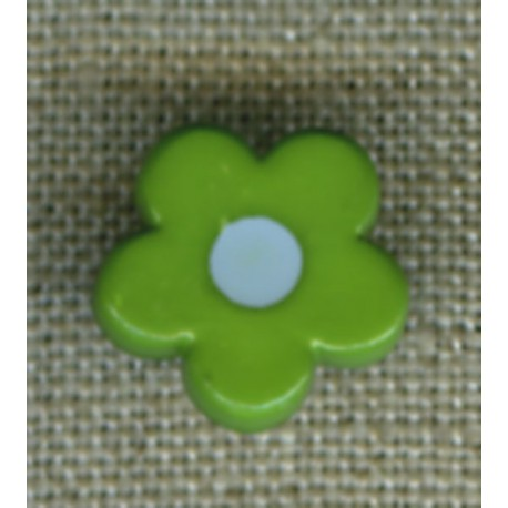 Pop Grass/Azur flower children's button.
