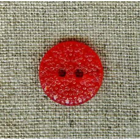 Cherry flower embossed children's button