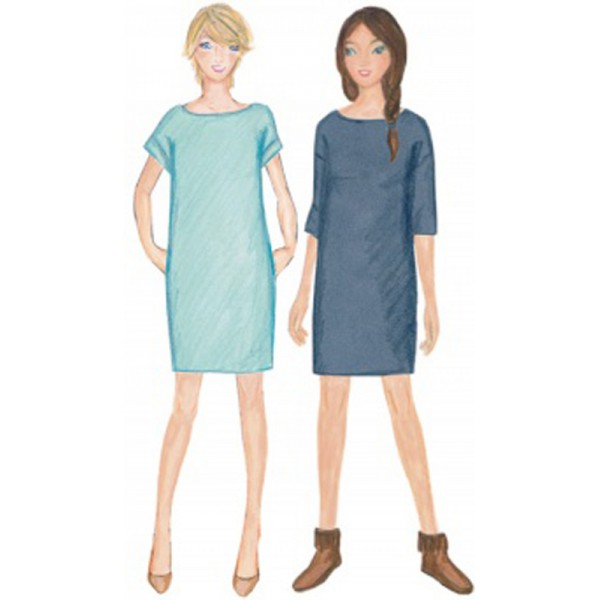 patron couture robe soie