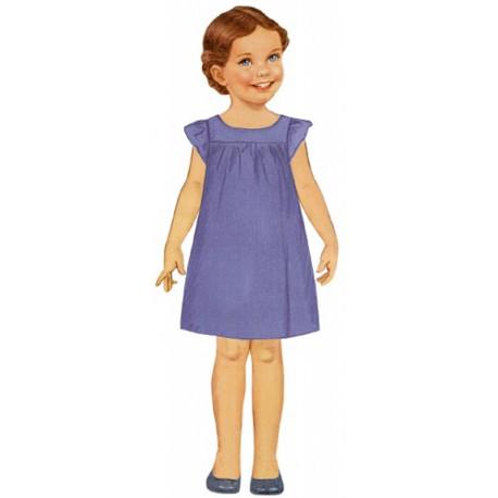 Citrinille Pattern N°209. Rosamée Dress. Ages 2. 4. 6. 8 a.