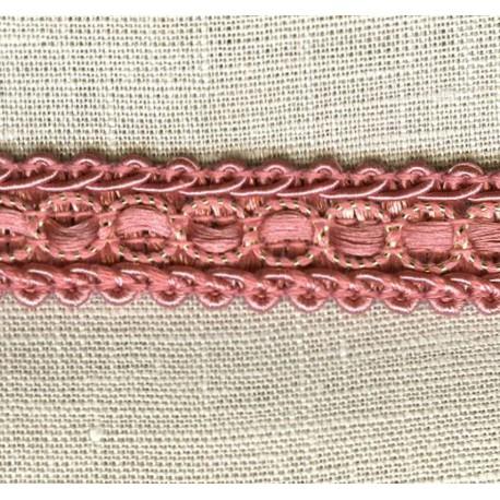 Interlacing braid Boudoir, col. Old Rose/ Gold 77