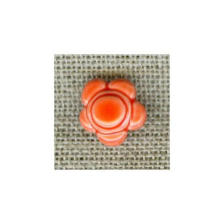 Martian Daisy children button, Coral