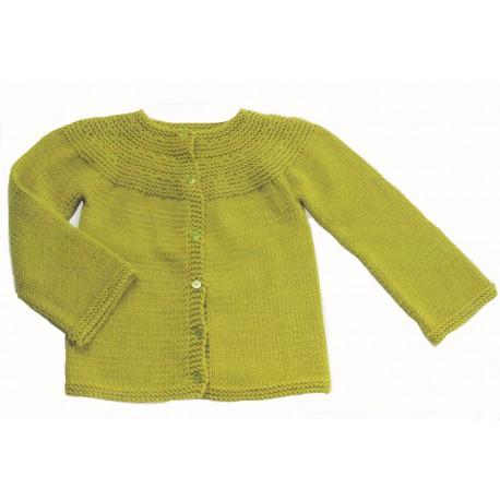 Citronille Knitting pattern N°63 Rounded Yoke Cardigan