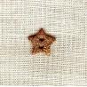Bouton Nacre émaillée Shining Star, col. Cuivre