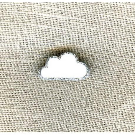 Children Button Little Cloud, col. Snow
