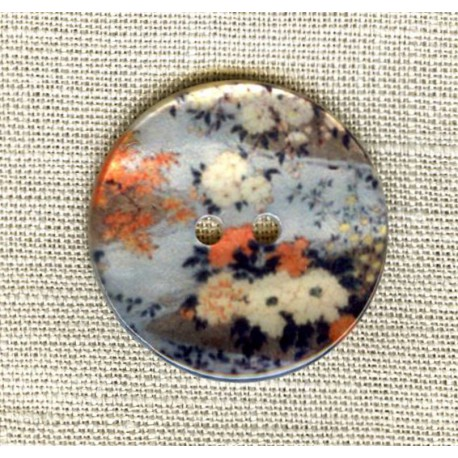 Printed mother-of-pearl, Japanese Garden