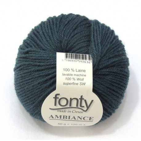 FONTY wool knitting yarn, qual.AMBIANCE, col. Northern Sea 322