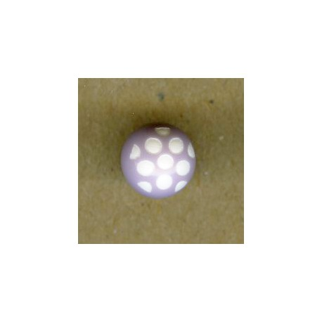 Ball children button white dots engraved, col. Marshmallow