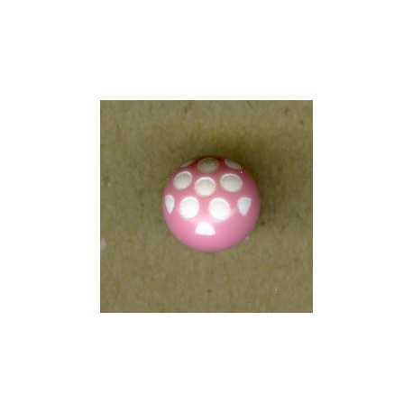 Ball children button white dots engraved, col. Rosewood