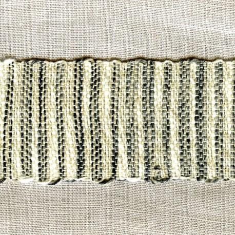 Talith Jacquard Ribbon, col. Natural/ Pebbles/ Black
