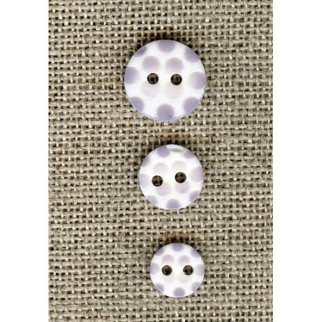 White children button Marshmallow dots engraved