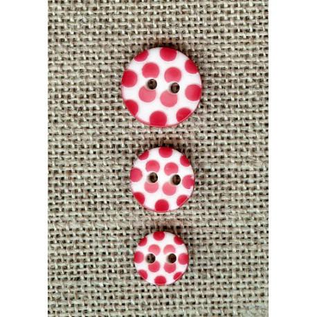 White children button Poppy dots engraved