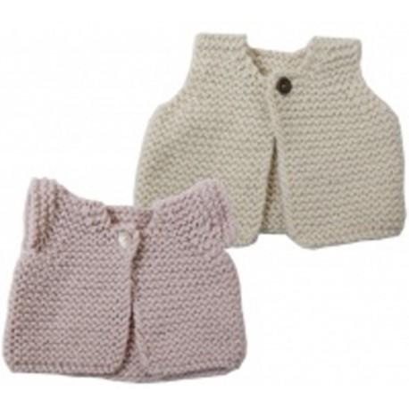 CITRONILLE knitting pattern N°47 BB,Baby Shepperd vest