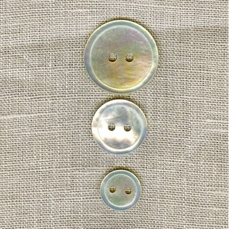 Very thin natural mother-of-pearl button